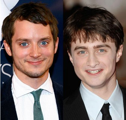 elijah wood daniel radcliffe look alike. Elijah Wood and Daniel