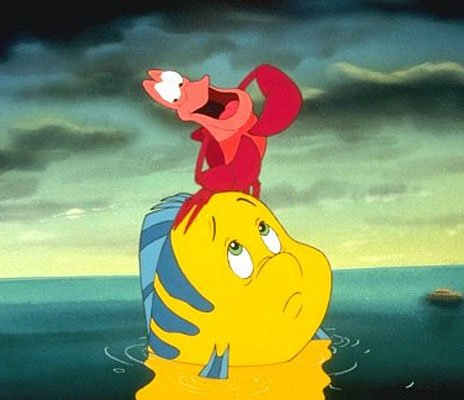 Flounder in 'The Little Mermaid'. Ariel's best friend and companion,