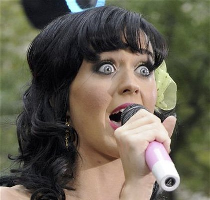 funny face. Katy Perry funny face and