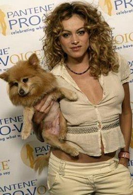 Photo of Paulina Rubio & her Dog