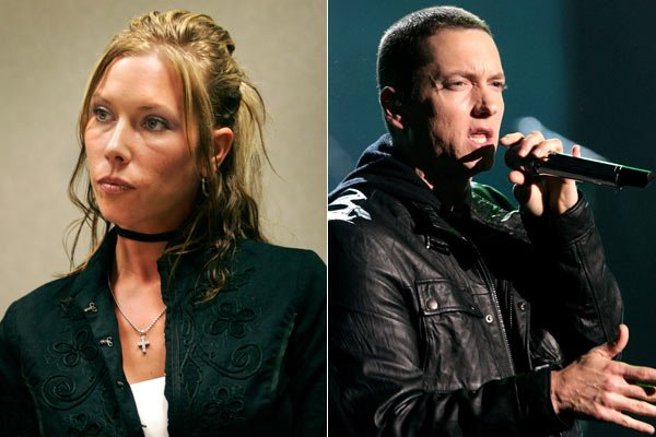 pictures of eminem and kim mathers. Eminem and Kim Mathers