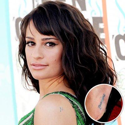 lea michele tattoos 7. Lea Michele