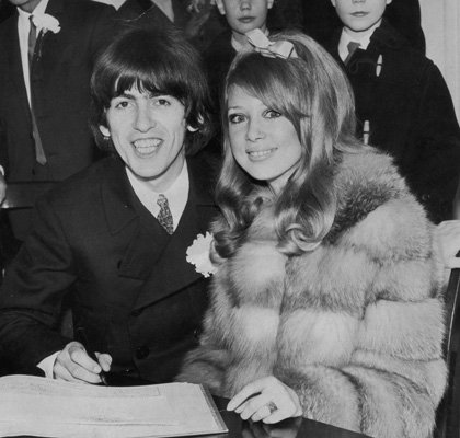 George Harrison   Music s Most Extravagant Weddings   Comcast net    George Harrison And Pattie Boyd Wedding