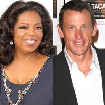 Foto izquierda a derecha: Oprah Winfrey y Lance Armstrong