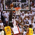 MIAMI, FL - MAY 22: LeBron James #6 of the Miami Heat drives and makes the game winning basket in overtime against the Indiana Pacers during Game One of the Eastern Conference Finals at AmericanAirlines Arena on May 22, 2013 in Miami, Florida. (Photo by Mike Ehrmann/Getty Images)