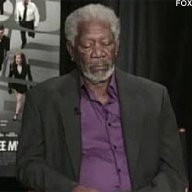 Freeman Falls Asleep During Interview