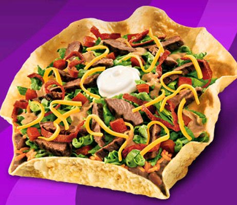 Chipotle Steak Taco Salad - Taco Bell | Top 20 Belly-Busting Fast ...