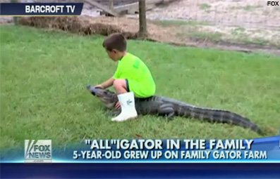 Play 5-Year-Old Wrestles Gators Free Online