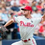 Phils' Hamels, 3 relievers no-hit Braves