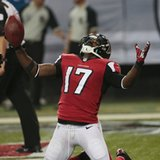 Hester sets mark, Falcons rip Bucs 56-14