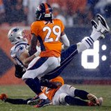 Latest from the NFL: Gronkowski carted off after hit to knee