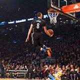 The Latest: Zach LaVine takes flight, wins 2nd dunk contest