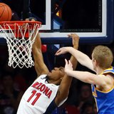 Trier scores 18, No. 17 Arizona holds off UCLA 81-75