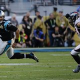 The Latest: Stewart's TD run gets Panthers within 10-7