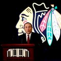 NHL commissioner Gary Bettman speaks during a news conference Thursday, Feb. 11, 2016, in Chicago. The Chicago Blackhawks will host the 2017 NHL Draft at United Center. The Draft will be held over two days, Friday, June 23, and Saturday, June 24, 2017. (AP Photo/Nam Y. Huh)