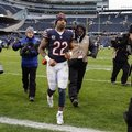 FILE - In this Jan. 3, 2016 file photo, Chicago Bears running back Matt Forte (22) leaves the field after an NFL football game against the Detroit Lions in Chicago. Forte, a two-time Pro Bowl running back, announced on Instagram Friday, Feb. 12, 2016, morning that the team informed him this week it will not offer him a contract for next season. (AP Photo/Nam Y. Huh, File)