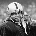 FILE - In this Dec. 27, 1976, file photo, Oakland Raiders quarterback Ken Stabler, who was sidelined in the second half, gestures during the AFC championship game in Oakland. Stabler is a finalist for the Pro Football Hall of Fame. (AP Photo/File)