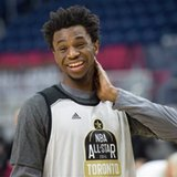 The Latest: Wiggins starts fast in Rising Stars Challenge