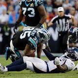 The Latest: Gano missed FG, Broncos lead Panthers 13-7.