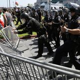Rowdy Trump protests portend explosive California primary
