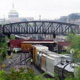 Train derails in Washington, DC; leaks hazardous chemical