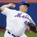 FILE- In this May 18, 2016, file photo, New York Mets' Bartolo Colon delivers a pitch during the first inning of a baseball game against the Washington Nationals in New York. Colon turns 43 on Tuesday, May 24, 2016. (AP Photo/Frank Franklin II, File)