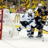 The Latest: Hertl power-play goal cuts Penguins' lead to 2-1