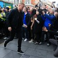 Leicester City's Kasper Schmeichel arrives at San Carlo Pizzeria for a celebratory lunch in Leicester, England Tuesday May 3, 2016. Leicester clinched the most improbable title of the Premier League era when second-place Tottenham was held to a 2-2 draw at Chelsea on Monday night. (Jonathan Brady/PA via AP) UNITED KINGDOM OUT