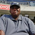 FILE - In this June 11, 2013 file photo, Hall of Famer Tony Gwynn watches batting practice during warmups prior to a baseball game between the San Diego Padres and the Atlanta Braves in San Diego. Gwynn's widow and two children filed a lawsuit Monday, May 23, 2016, seeking to hold the tobacco industry accountable for the Hall of Famer's death. (AP Photo/Lenny Ignelzi, File)