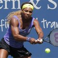 FILE - In this Aug. 13, 2014, file photo, Serena Williams hits a backhand against Samatha Stosur, from Australia, during a match at the Western & Southern Open tennis tournament in Mason, Ohio. Williams has pulled out of the 2016 Rogers Cup because of shoulder inflammation. The three-time Rogers Cup champion was seeded first in the hard-court tournament and was set to have a bye in the first round. (AP Photo/Al Behrman, File)