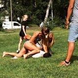 Bikini-clad Swedish cop makes arrest while sunbathing