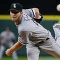 "FILE - In this Monday, July 18, 2016, file photo, Chicago White Sox starting pitcher Chris Sale throws to a Seattle Mariners batter during a baseball game in Seattle. Sale has been scratched from his start against the Detroit Tigers after he was involved in what the team says was a ""non-physical clubhouse incident."" The White Sox declined to describe the incident, but said it's ""currently under further investigation by the club"" and that Sale was sent home from the park. (AP Photo/Ted S. Warren, File)"