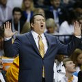 Tennessee head coach Donnie Tyndall calls out during the first half of an NCAA college basketball game in the second round of the Southeastern Conference tournament against Vanderbilt, Thursday, March 12, 2015, in Nashville, Tenn.