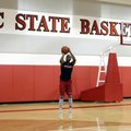 In this photo taken Tuesday, July 26, 2016, North Carolina State freshman Dennis Smith Jr. participates in an NCAA basketball drill on campus in Raleigh, N.C. Smith is one of the nation's top recruits and joins a Wolfpack team that missed the NCAA Tournament for the first time in five seasons last year.