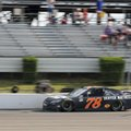 Martin Truex Jr. (78) drives at Pocono Raceway during qualifying for Sunday's NASCAR Sprint Cup Series Pennsylvania 400 auto race Friday, July 29, 2016, in Long Pond, Pa. Truex qualified on the pole. (AP Photo/Mel Evans)