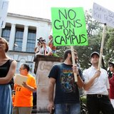 Texas college students rally against gun law with sex toys