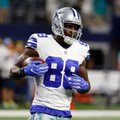 Dallas Cowboys wide receiver Dez Bryant runs with the ball as he warms up with the team before an NFL football game against the Miami Dolphins, Friday, Aug. 19, 2016, in Arlington, Texas. (AP Photo/Michael Ainsworth)
