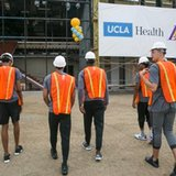 Excited Lakers provide early look at new training center