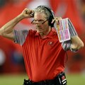 FILE - In this Aug. 26, 2016, file photo, Tampa Bay Buccaneers head coach Dirk Koetter watches during the second quarter of an NFL preseason football game against the Cleveland Browns in Tampa, Fla. (AP Photo/Jason Behnken, File)