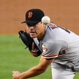 Giants lefty Moore pitching no-hitter through 8 vs Dodgers