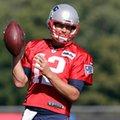 New England Patriots quarterback Tom Brady works out on the field during an NFL football training camp practice, Tuesday, Aug. 30, 2016, in Foxborough, Mass. (AP Photo/Steven Senne)