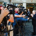 Former FIFA President Sepp Blatter arrives at the International Court of Arbitration for Sport, CAS, for his appeal on a six-year ban on football related activities in Lausanne, Switzerland, on Thursday Aug. 25, 2016. The court's verdict is expected within several weeks, and could be challenged in a further appeal to Switzerland's supreme court. The 80-year-old Blatter denies wrongdoing in authorizing a US$2 million payment to former FIFA vice president Michel Platini in 2011. They claimed it was for backdated and uncontracted salary for work Platini did in advising Blatter from 1999 to 2002. (Valentin Flauraud/Keystone via AP)