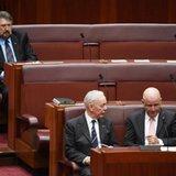 Australian senator caught napping still fan of press freedom