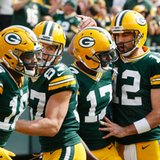 The Latest: Green Bay's Rodgers passes for 4 TDs in 1st half