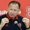 North Carolina State head coach Mark Gottfried speaks to members of the media during the NCAA college basketball team's media day in Raleigh, N.C., Thursday, Sept. 29, 2016.