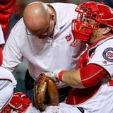 Nationals catcher Ramos out for playoffs with torn ACL