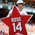 FILE - In this June 24, 2016, file photo, former Cincinnati Reds player Pete Rose holds his place marker during a ceremony to honor the 1976 World Series champion team, before the Reds' baseball game against the San Diego Padres in Cincinnati. Rose has appealed directly to the National Baseball Hall of Fame in an effort to restore his eligibility to be elected. In a seven-page letter to the Hall's president on Tuesday, Sept. 27, 2016, Rose's longtime attorney Raymond Genco makes the case that the career hits leader's ban from baseball for gambling in 1989 was not intended to make him ineligible for the Hall of Fame. (AP Photo/John Minchillo, File)