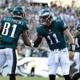 The Latest: Wentz throws for 183 yds, TD in first half