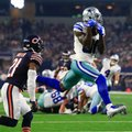 Chicago Bears cornerback Tracy Porter (21) defends as Dallas Cowboys wide receiver Dez Bryant (88) catches a pass thrown by Dak Prescott (4) for a touchdown in the second half of an NFL football game, Sunday, Sept. 25, 2016, in Arlington, Texas. (AP Photo/Ron Jenkins)