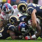 The Latest: Giants' Harris injures lower back on punt return